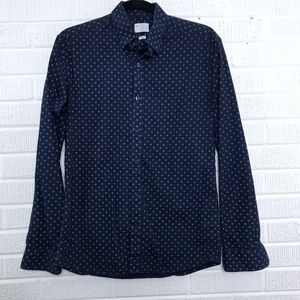 Selected Homme Slim Fit Button Down Shirt Dot S